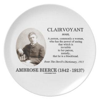 Ambrose Bierce Clairvoyant The Devil's Dictionary Melamine Plate