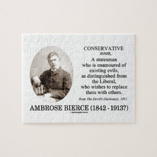 Ambrose Bierce Conservative The Devil s Dictionary Jigsaw Puzzles