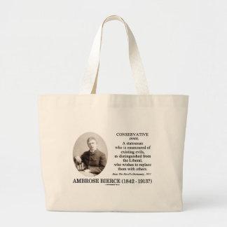 Ambrose Bierce Conservative The Devil's Dictionary Large Tote Bag