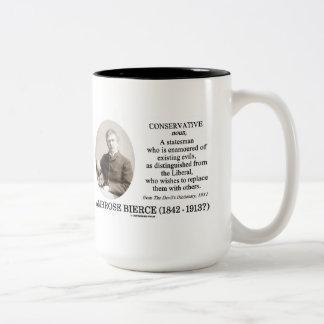 Ambrose Bierce Conservative The Devil's Dictionary Coffee Mugs