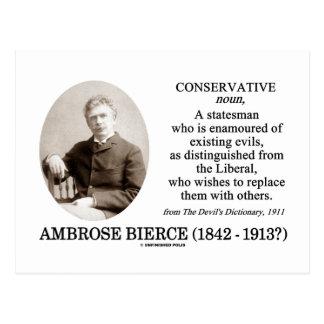 Ambrose Bierce Conservative The Devil's Dictionary Postcard