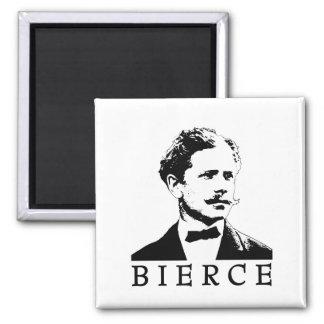 Ambrose Bierce 2 Inch Square Magnet