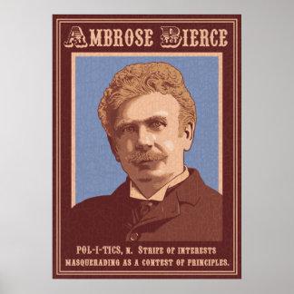 Ambrose Bierce -Politics Poster