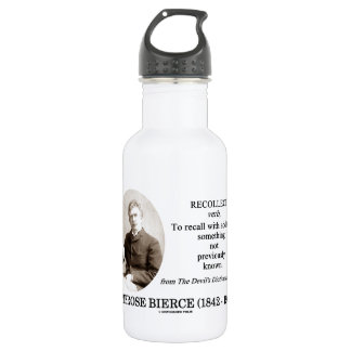 Ambrose Bierce Recollect The Devil's Dictionary 18oz Water Bottle