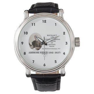 Ambrose Bierce Recollect The Devil's Dictionary Wrist Watch