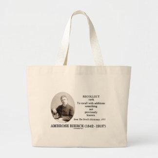 Ambrose Bierce recuerda el diccionario del diablo Bolsa Tela Grande
