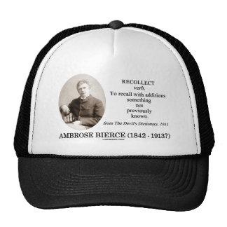 Ambrose Bierce recuerda el diccionario del diablo Gorro De Camionero
