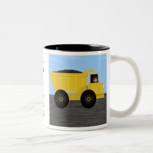 Ambrose Dump Truck Personalized Name Mug