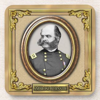 Ambrose E. Burnside Civil War Drink Coaster