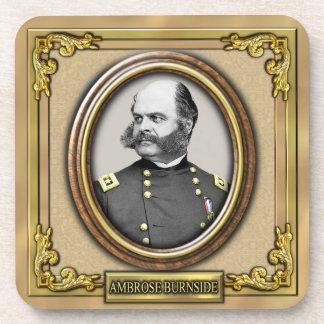 Ambrose E. Burnside Civil War Drink Coaster