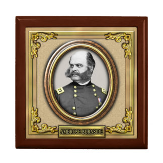 Ambrose E. Burnside Civil War Keepsake Box