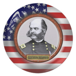 Ambrose Everett Burnside Civil War Plate