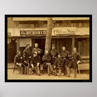 Ambrose Everett Burnside with RI Volunteers 1861 Poster