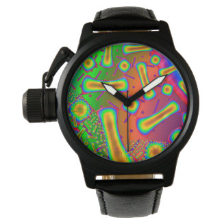 Ambrosia Dichroic Glass Fractal Wristwatch
