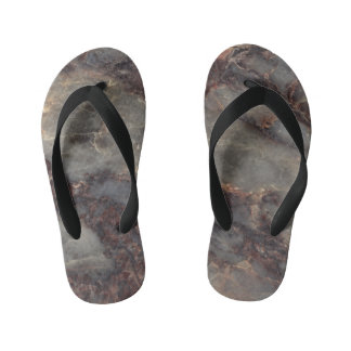 Ambrosia Stone Pattern Background Kid's Flip Flops
