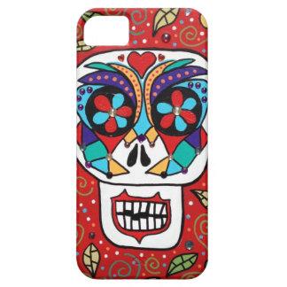 Ambrosino Art iPhone iPad Case Sugar Skull Red