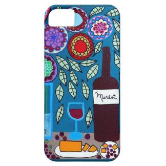 Ambrosino Art iPhone iPad Case Wine Flowers Merlot
