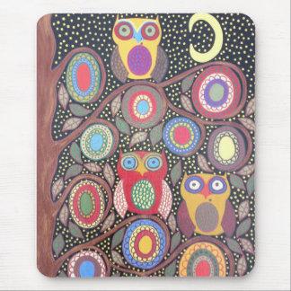 Ambrosino Art Mousepad Night Owls Flowers Moon Mouse Pad