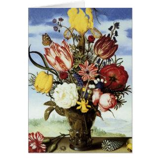 Ambrosius Bosschaert Bouquet Of Flowers Card