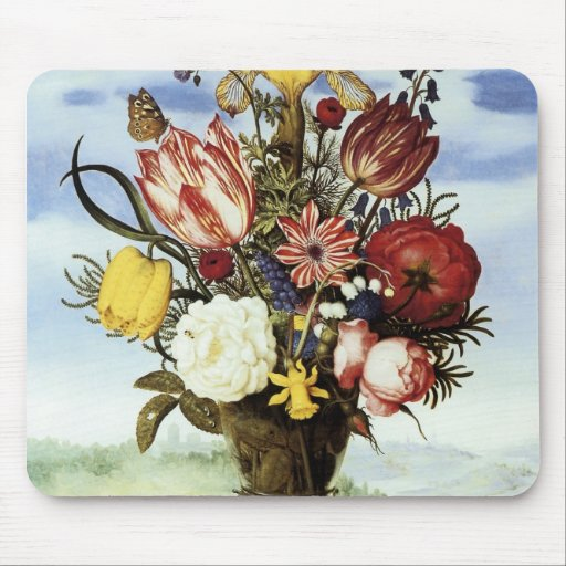 Ambrosius Bosschaert Bouquet Of Flowers Mouse Pad