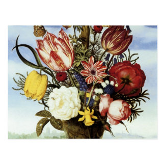 Ambrosius Bosschaert Bouquet Of Flowers Postcard