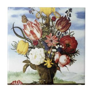 Ambrosius Bosschaert Bouquet Of Flowers Tile