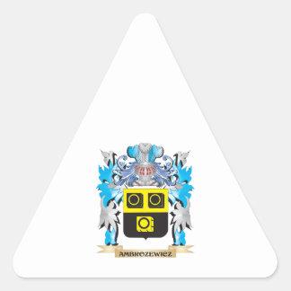 Ambrozewicz Coat Of Arms Triangle Sticker