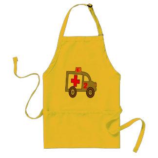 Ambulance 2nd Birthday Gifts Adult Apron