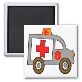 Ambulance 6th Birthday Gifts Magnet