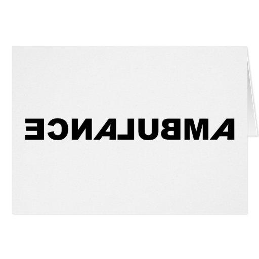 Ambulance - Backwards, Card