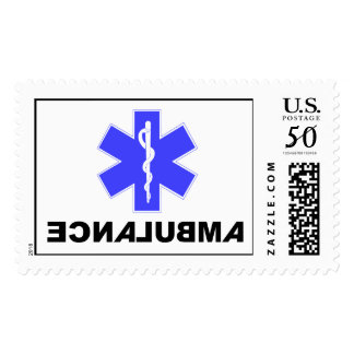 Ambulance - Backwards, Star of Life, Stamp