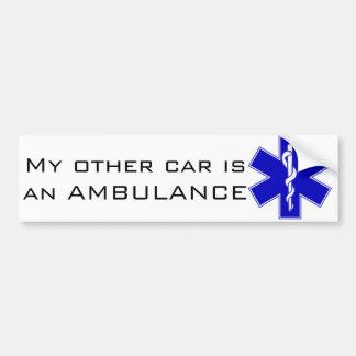Ambulance Bumper Sticker Car Bumper Sticker