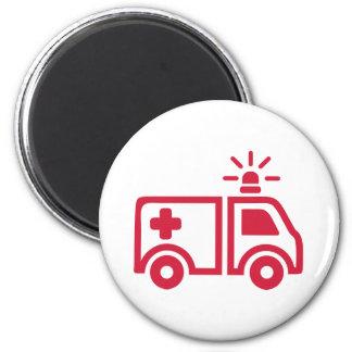 Ambulance car 2 inch round magnet