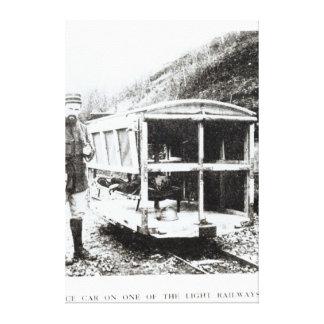 Ambulance Car on One of the Light Railways Canvas Print