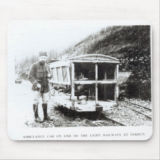 Ambulance Car on One of the Light Railways Mouse Pad