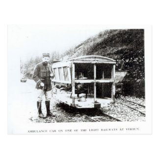 Ambulance Car on One of the Light Railways Postcard