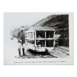 Ambulance Car on One of the Light Railways Poster