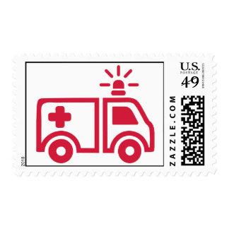 Ambulance car stamp