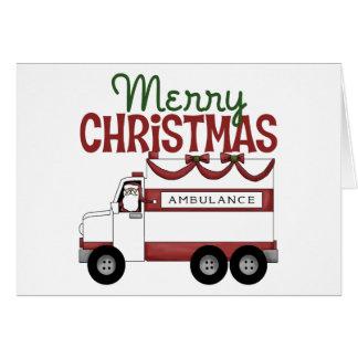 Ambulance Christmas Card