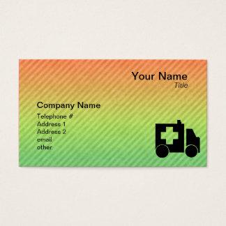 Ambulance Design Business Card