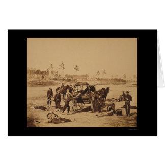 Ambulance Drill near Brandy Station, VA 1864 Greeting Card