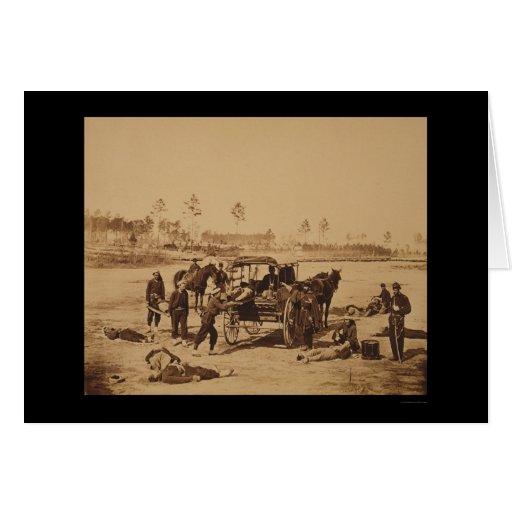 Ambulance Drill near Brandy Station, VA 1864 Card