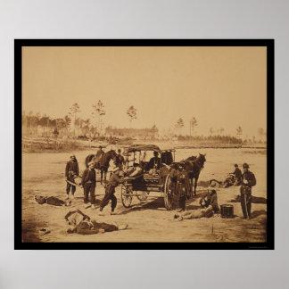 Ambulance Drill near Brandy Station, VA 1864 Poster