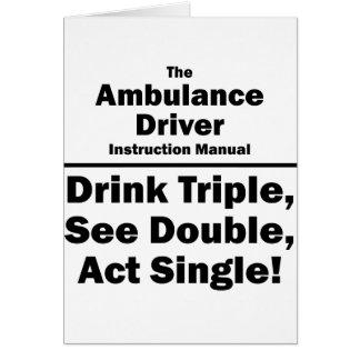 ambulance driver card