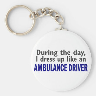 AMBULANCE DRIVER During The Day Basic Round Button Keychain