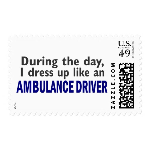 AMBULANCE DRIVER During The Day Postage Stamp