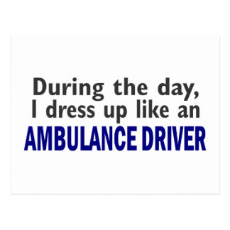 AMBULANCE DRIVER During The Day Postcard