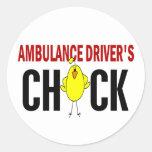 Ambulance Driver's Chick Stickers