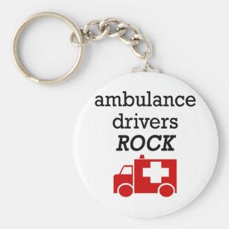 Ambulance Drivers Rock Basic Round Button Keychain