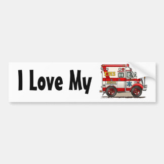"""Ambulance EMS Box Truck, I Love My Bumper Sticker"